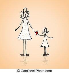 día madres, ilustración