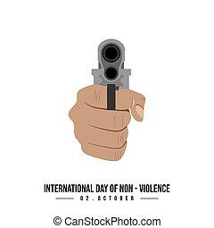 día, non-violence, internacional
