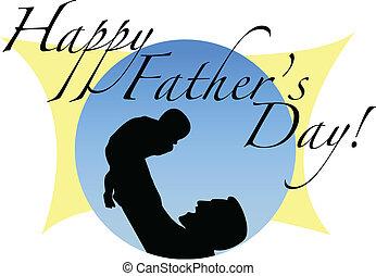 día padre, feliz