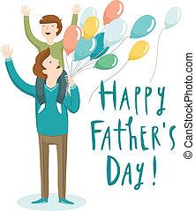 día padre, ilustración