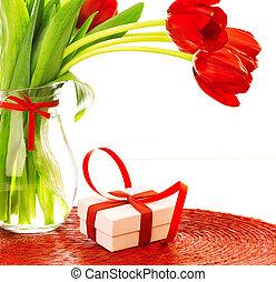 día, regalo, madres