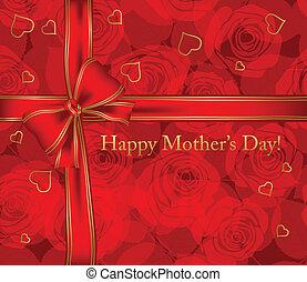 día, tarjeta, madre
