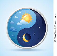 día y noche, símbolo