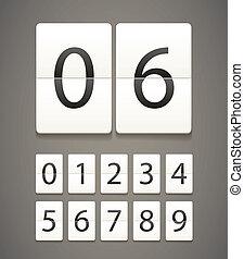 dígitos, papel, diario