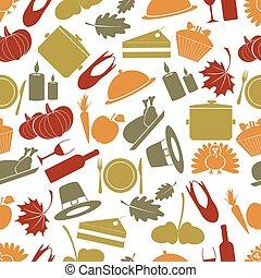 díkůvzdání, barva, seamless, podzim, model, eps10