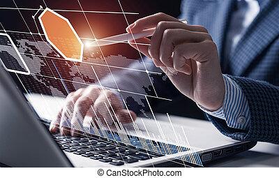 díla, data, obchodník, finanční machinace