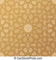 díszítés, pattern., seamless, marokkói, iszlám, arab, ...