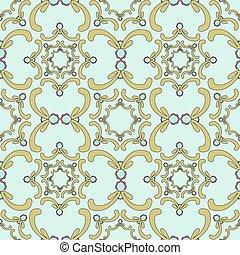 díszítő, seamless, pattern.