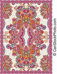 díszítő, ukrán, seamless, tervezés, virágos, keleti, szőnyeg