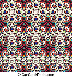 díszítő, vektor, pattern., seamless