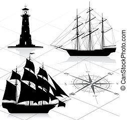 díszlet tervezés, alapismeretek, tengeri