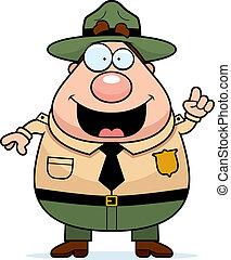 dísztér erdőőr, gondolat
