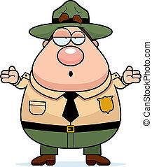 dísztér erdőőr, megzavarodott
