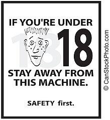 dívčí, bezpečnost, plakát