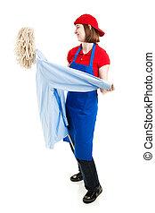 dívčí, dělník, tančení, oproti kus