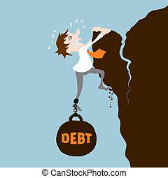 dívida, homem negócio