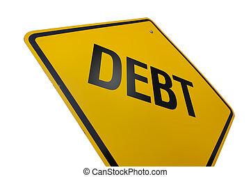 dívida, sinal estrada