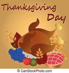 dîner, isolé, thanksgiving