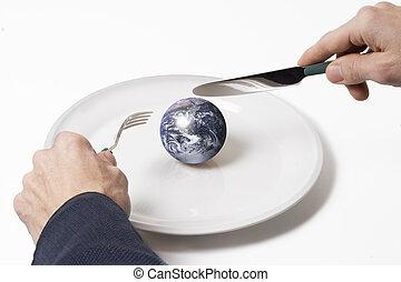 dîner, la terre