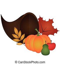 dîner, ornement, thanksgiving