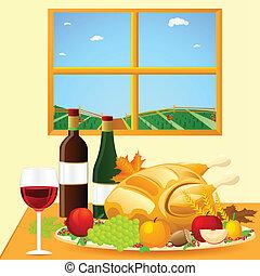 dîner, thanksgiving