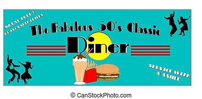 dîneur, années cinquante, fabuleux