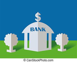dólar, banco