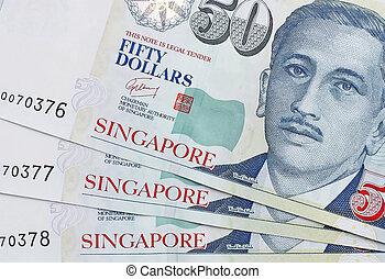 dólar, billete de banco, singapur