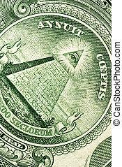 dólar, closeup