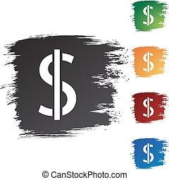 dólar, dinheiro, sinal