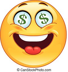 dólar, emoticon