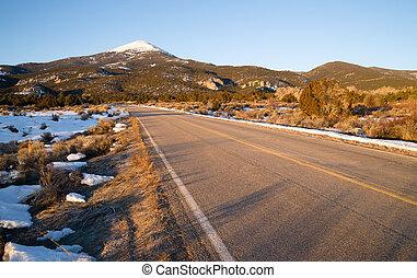 dólar, grande, montanha, oeste, nacional, calvo, parque, bacia, nevada