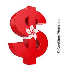 dólar hong-kong, bandera, señal