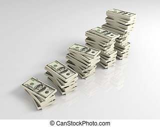 dólar, lucro, crescimento