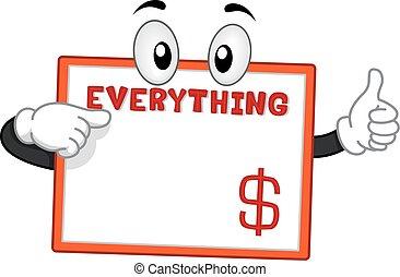 dólar, marco, mascota, aprobar, todo