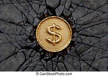 dólar, roca