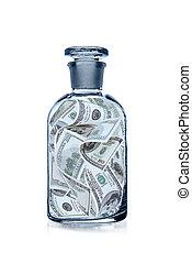 dólares, botella, estados unidos de américa
