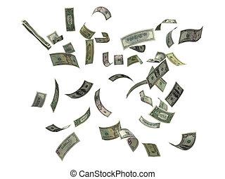dólares, caer, nosotros