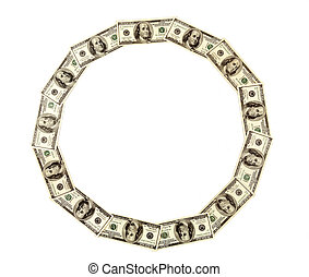 dólares, fundo