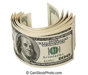 dólares, montón