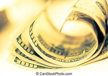 dólares., primer plano, finanzas del dinero, efectivo, ...