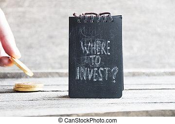 dónde, inversionista, invest., idea.