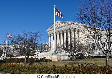döntő bíróság, épület, alatt, washington dc dc