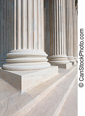 döntő bíróság, közül, egyesült államok, oszlop, evez