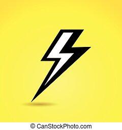 dörgés, ikon, képben látható, sárga háttér