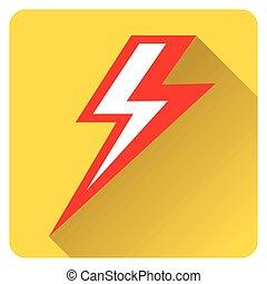 dörgés, sárga, piros, ikon