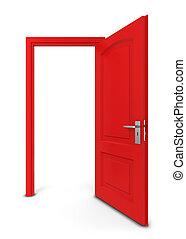 dörr, öppnat