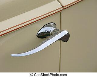 dörr, bil, handtag