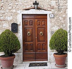 dörr, främre del