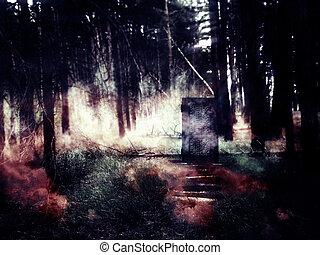 Skottdrama pa begravningplats